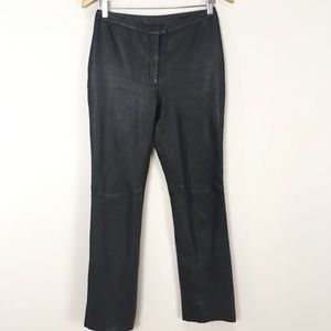 EXPRESS Black Leather High Rise Motorcycle Pants